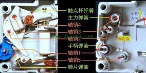 小型断路器机械结构灭弧系统及工作原理详解插图