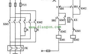 三相异步电动机反接制动的原理和实施方法图解插图