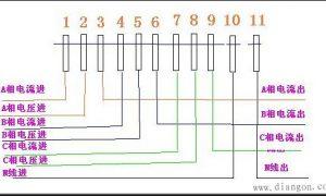 带互感器三相四线电表接线图插图
