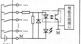 PLC数字量输入模块电路插图