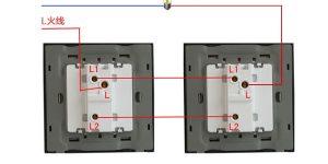 一开双控开关接线图_单控开关实物图_单控双开开关接线图插图