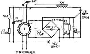 单相漏电保护器线路原理插图