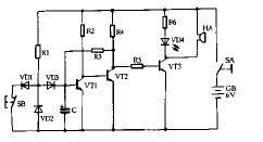 三极管自锁电路图插图