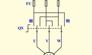 倒顺开关控制电动机正反转控制电路原理图解插图