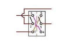用二个双联开关做成一个双刀双掷开关方法图解插图