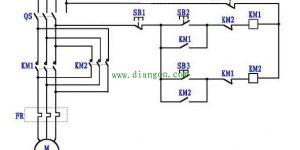 电机正反转控制电路图原理图解插图