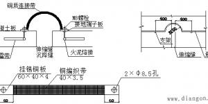 避雷带和避雷网_接地线的安装详图_避雷带安装图集插图