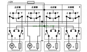 汽车电动车窗的组成和电路图工作原理图解插图